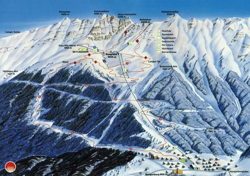 Nordpark-Innsbruck-austria-ski-map
