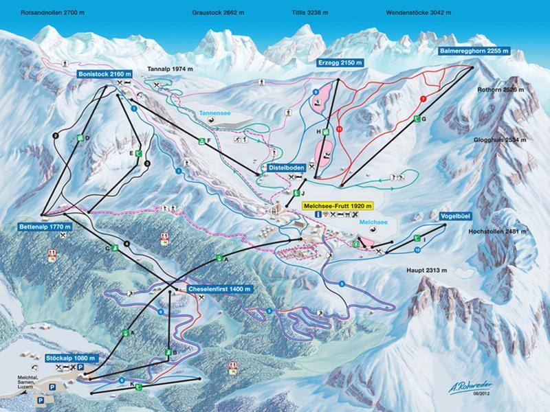 Melchsee-Fruett-Ski-Map