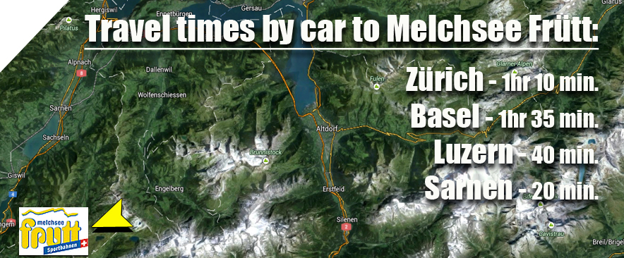 Melchsee-Fruett-Ski-Area-Access-car-travel-times-map