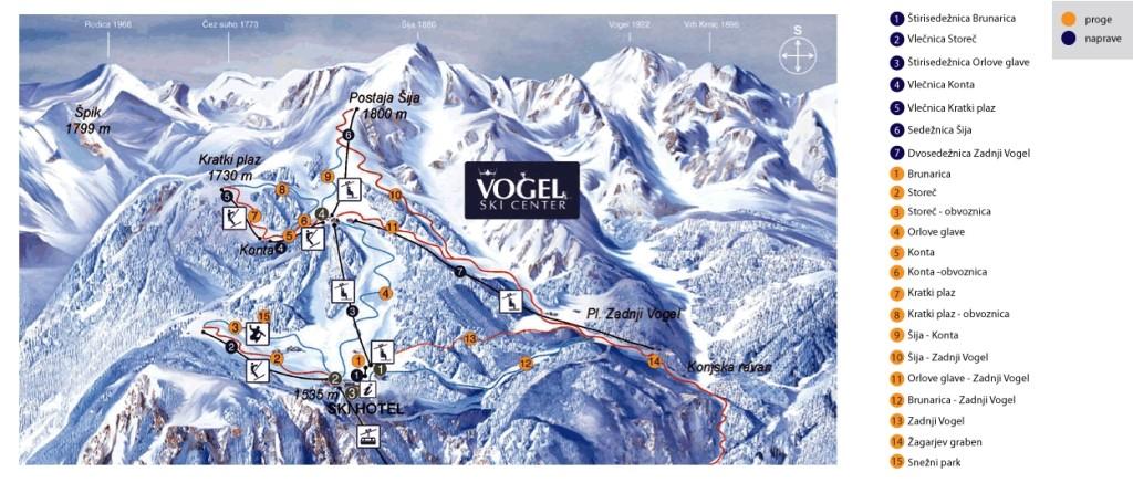 Vogel-Slovenia-Ski-Map