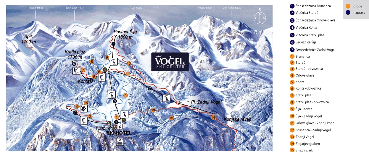 Alpine Objectives » Vogel Ski Center, Bohinj, Slovenia, Skiing ...